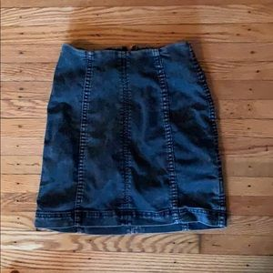Free People SZ 0 denim mini skirt. Never worn